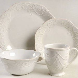 Lenox French Perle Place Setting White 4 Pieces